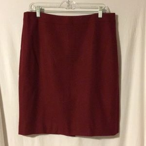 J.Crew Pencil Skirt - Burgundy- New with tags!